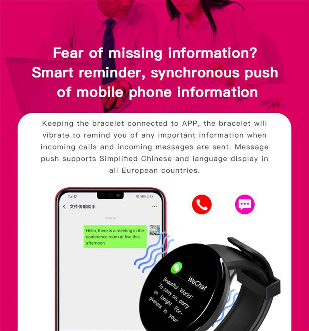 D18 Smart Watch With Fitness Tracker Blood Pressure Heart Rate Monitor 4